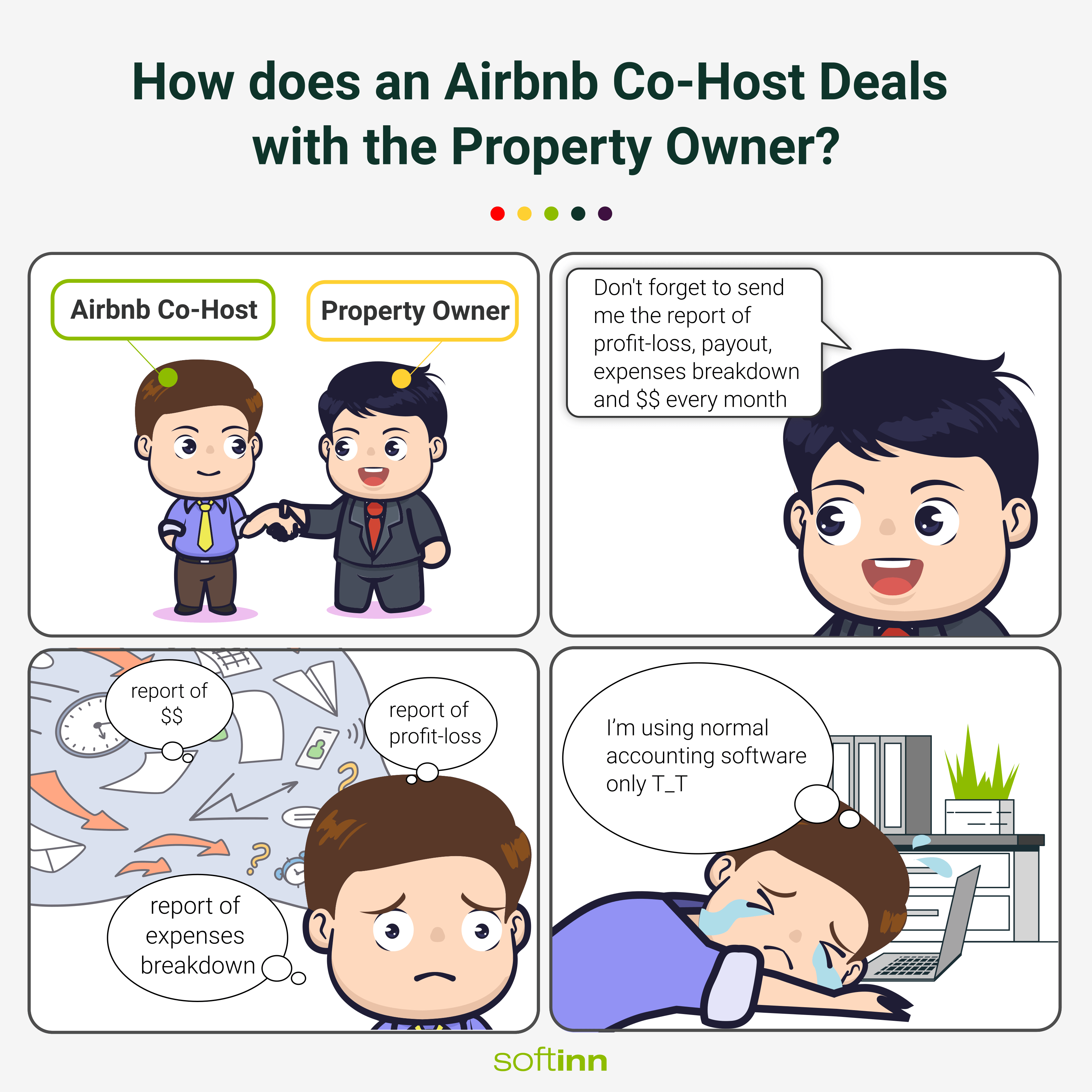 How does an Airbnb Operator Deals with property owner T1