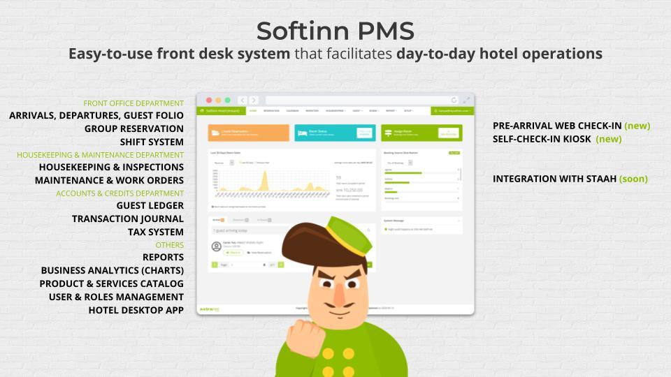 Softinn PMS Features