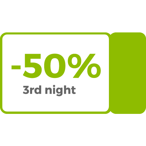 50% discount on 3rd night promotion