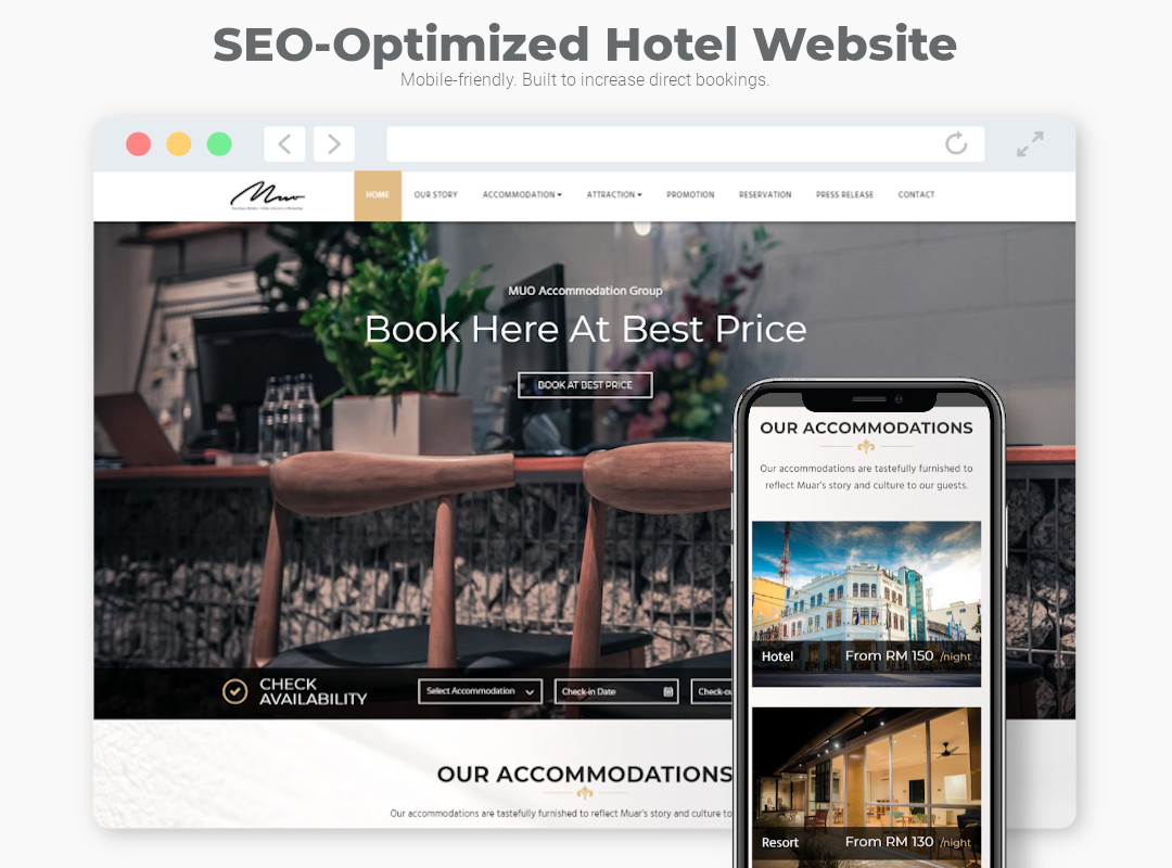 Mobile Friendly hotel website