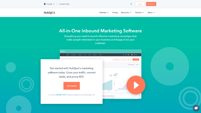 Hubspot Marketing Hub Screenshot