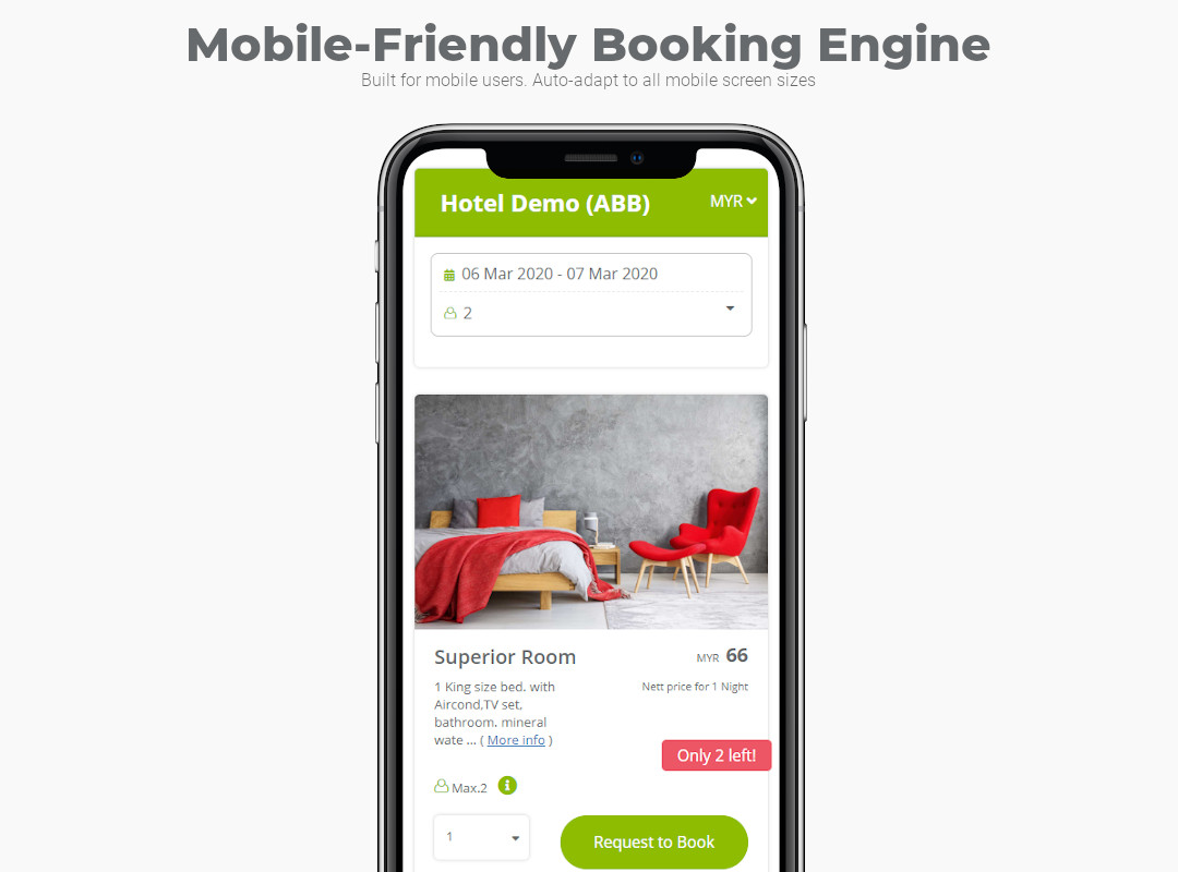 Mobile-friendly Hotel Reservation System